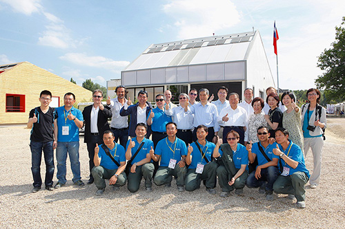 Delta Team's group photo at the 2014 Solar Decathlon Europe.
