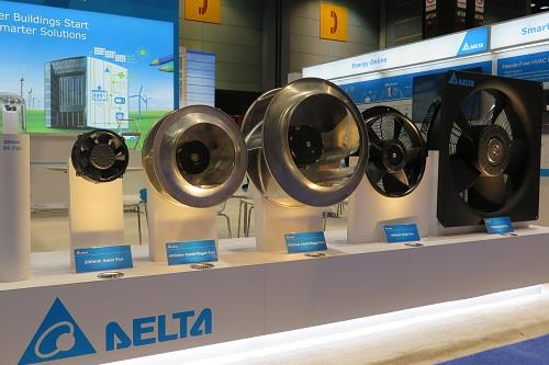 Delta's EC fan product series offers both centrifugal and axial fan models and can be widely applied in an HVAC system.