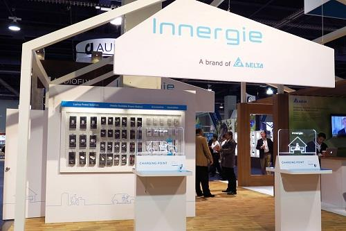 Mobile Power Management: New Innergie products, including PowerGear USB-C, PowerGear ICE 65, and WizardTip, are displayed.