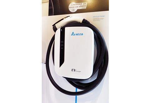 Delta's EV AC Charger: Designed for smart EV charging at home, allowing remote control and monitoring of charging events.