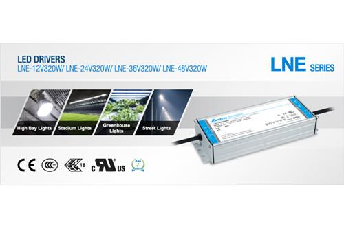 LNE-320W series, LED Driver, Delta Power Supplies