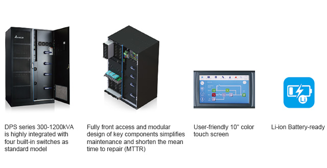 Fully front access and modular design of key components simplifies maintenance and shorten the mean time to repair (MTTR)