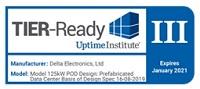 La solución POD de Delta recibe el premioTier III Ready Award de Uptime