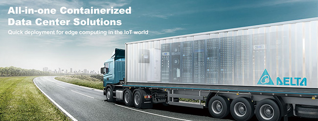 Containerized datacenter truck